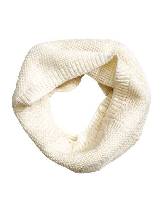 Check this out! Garter-stitched tube scarf in soft cotton. Width 8 3/4 in., circumference 19 3/4 in. - Visit hm.com to see more.