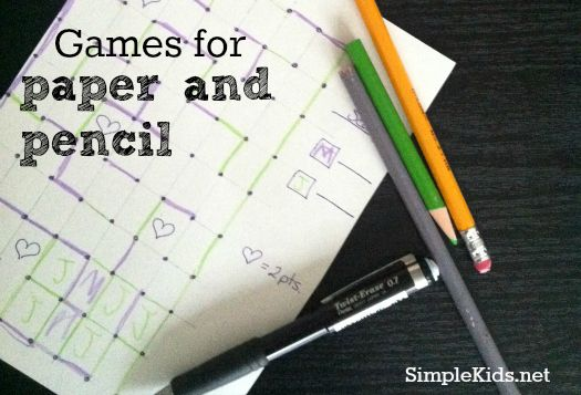 Pencil, Game and Paper on Pinterest