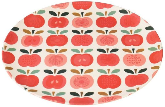 Vintage Apple Bamboo Plate - Large - Natural Collection Select