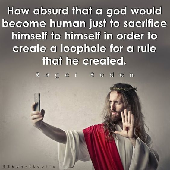 Human beings, whom God put in charge of the earth as gods, in concert with Satan, created the loophole--not God; Jesus volunteered to fix what we screwed up. Humans locked God out of the earth.