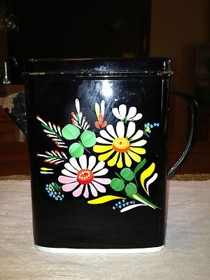 Vintage ransburg black soap flake laundry detergent tin dispenser i wish they still made these - Soap flakes dispenser ...