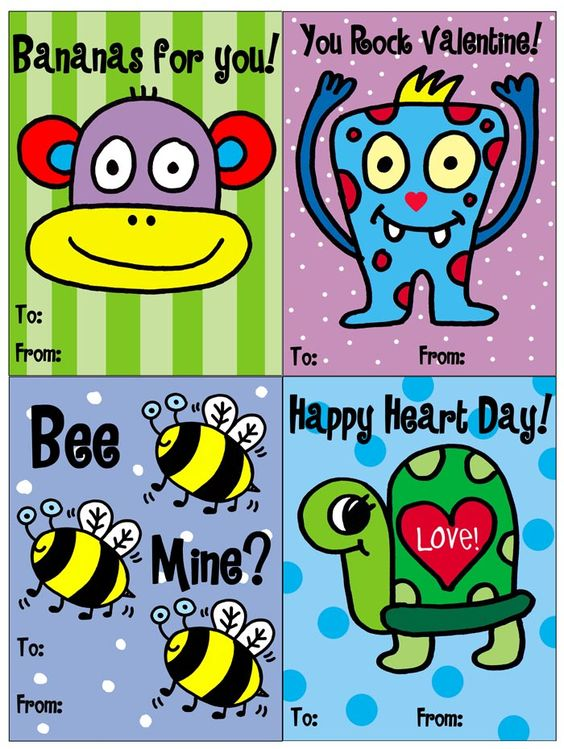 #FREE printable Valentines!! .pdf - Enjoy!! Great for school! Bee mine?valentines1- Download here -> http://cl.ly/381j1o2a2R2C141g0Y3i    #valentines #free #printable #popart #jelene #monkey #kids #monster #bee #cards #valentinesday #turtle #heart #love