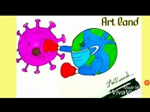 رسم سهل تعليم رسم محاربه العالم لتخلص من فيروس كورونا للمبتدئين خطوه بخطوه Youtube Art Mario Characters Character