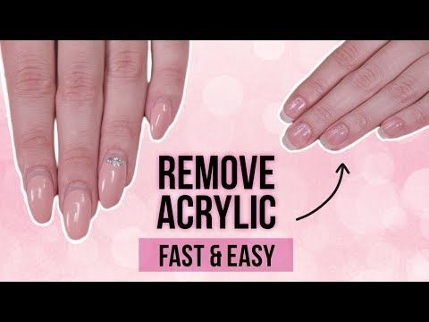 If You Re Trying To Remove Your Acrylic And Even Gel Nails Without Damaging Them Try These Acrylic Nails At Home Remove Acrylic Nails Take Off Acrylic Nails
