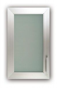 Aluminum frame glass cabinet doors decor pinterest for White kitchen cabinets with frosted glass