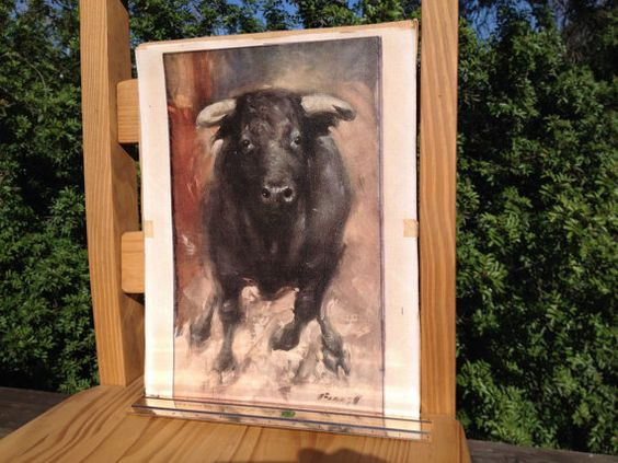 You Talking To Me Vintage Curious Bull Print Bos by urbantrader234