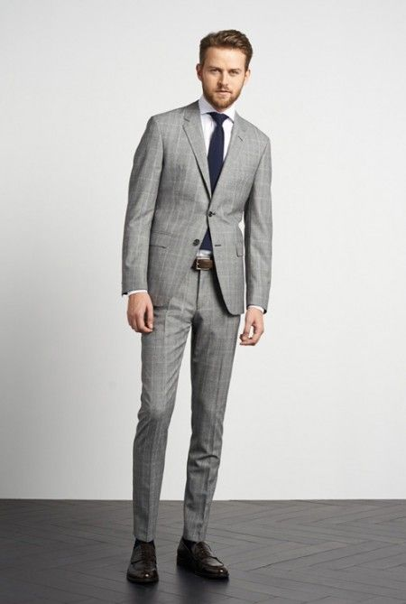Tommy-Hilfiger - Fall Winter 2014 Tailored Collection #menswear #style #winter #2014 #outfit #fashion #gray #suit #checked