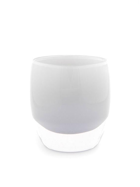 "VERSATILE NEUTRALS_Hand Blown Glass Art Shop | ""arthur"" soft gray Candle Holder and Vase"