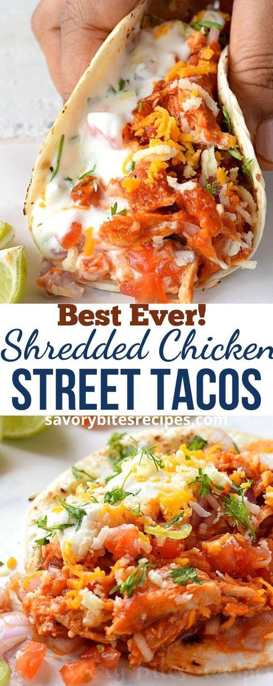 Best Shredded Chicken Street Tacos!