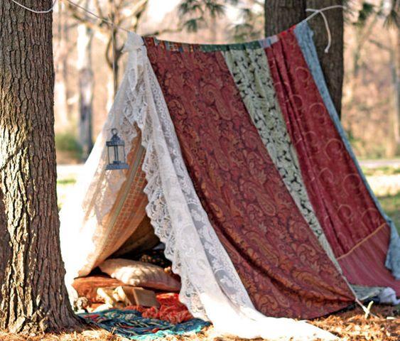 Boho meditation vintage Gypsy patchwork lace tent bed ...