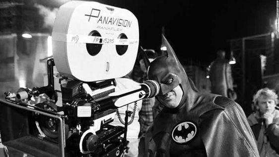 Batman behind the shooting camera