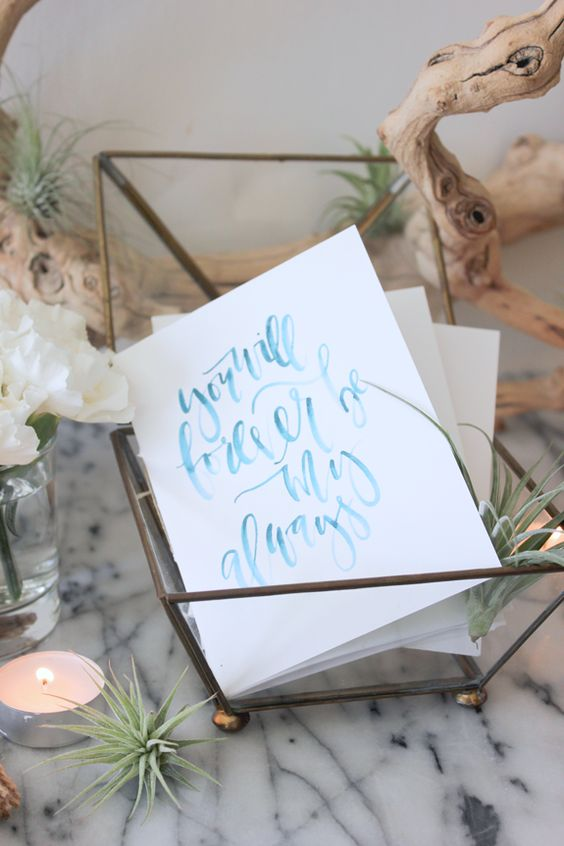 DIY Wedding: Watercolor Ceremony Program