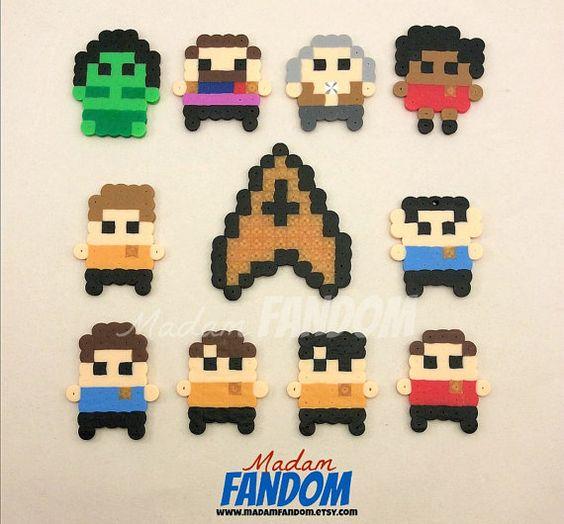 12 Star Trek Party Favors Zipper Pulls Keychains Clips Star Trek