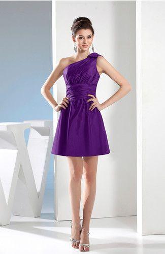 Purple Short Bridesmaid Dress
