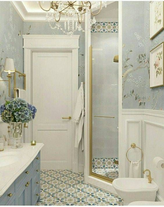 10 Reasons To Wallpaper Your Bathroom Gray Wallpaper Bathroom Bathroom Wallpaper Bathroom Interior Modern wallpaper for bathrooms 10
