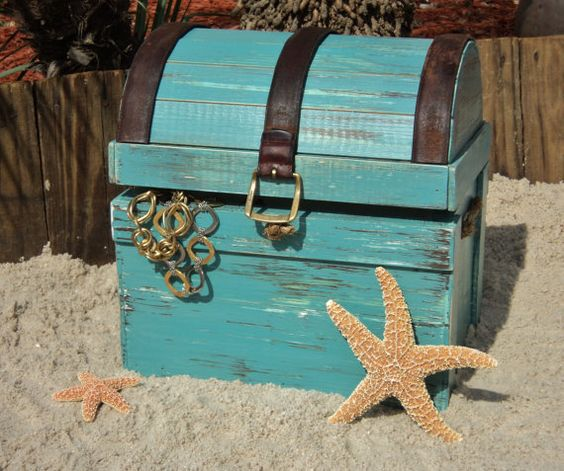 Treasure Chest Pirates Chest Jewelry Box Trinket Holder – Treasure Chest Wedding Card Box