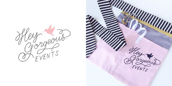 apron design for @Hey Gorgeous at hey gorgeous events.