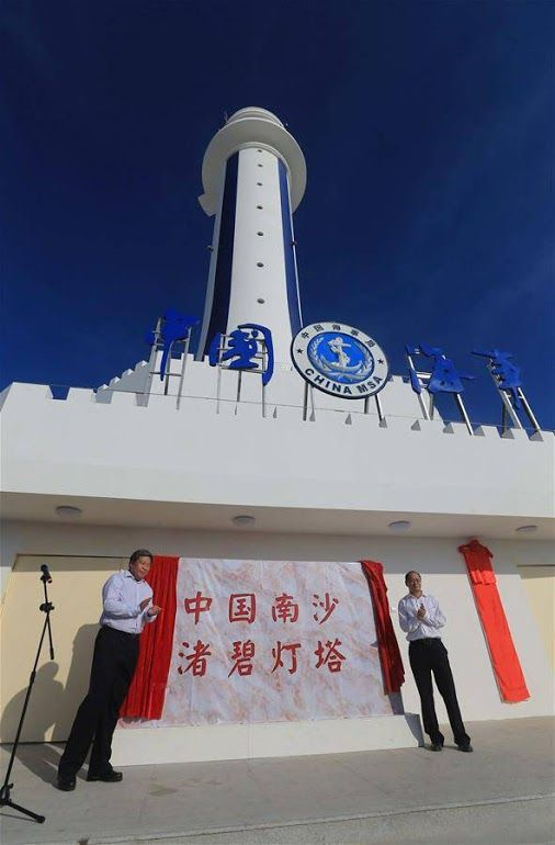 Another Chinese lighthouse has become operational on Zhubi Reef, a reef in the disputed Spratly Islands of the South China Sea. http://www.marinelink.com/news/operational-lighthouse408353.aspx