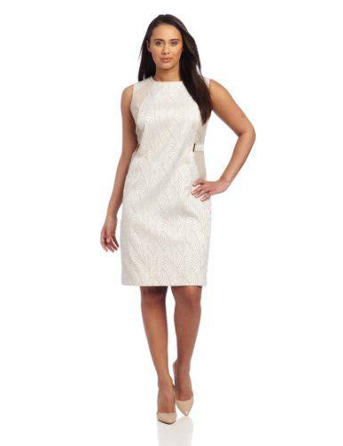 Calvin Klein Women's Tab Waist Shift Dress, Latte/Ivory Combo, 22W Calvin Klein,http://www.amazon.com/dp/B00BJFFTPQ/ref=cm_sw_r_pi_dp_CnBxsb0P3M19YBQ1
