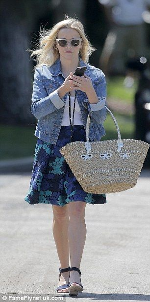 Icon: Reese looked comfortable and stylish for the afternoon as she was…