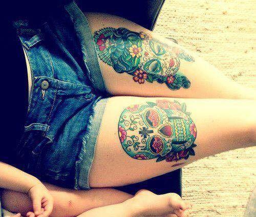 tatuajes de calaveras para mujeres en las piernas , Buscar con Google