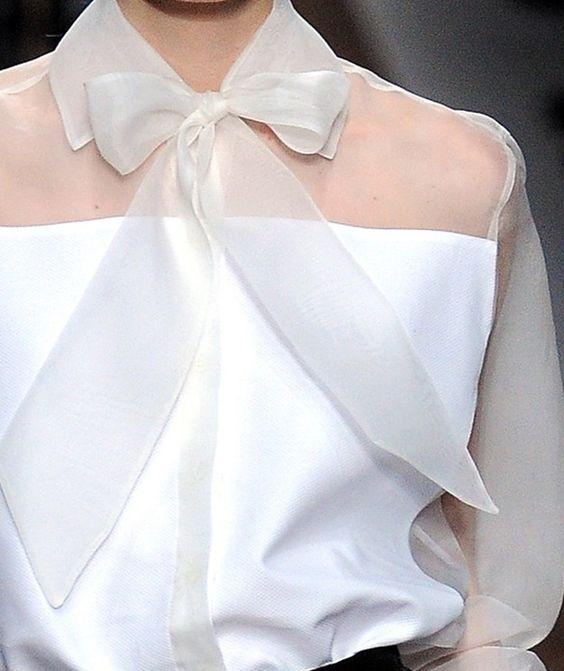 Feminine touch - sheer bow tie