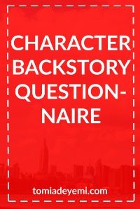 Character Backstory Questionnaire