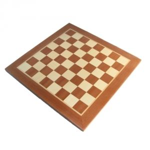 "19"" Mahogany & Sycamore Chess Board"