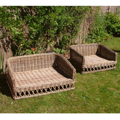 raised rattan dog bed dog room pinterest pets beds