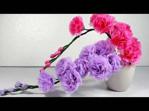 Membuat Bunga Palsu Dari Kantong Plastik Kresek Bekas Youtube