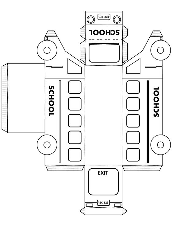 3d school bus templatetransportation happyhmsa basteln