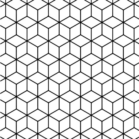 Geometric Tessellation with Rhombus Pattern Coloring page | Color ...