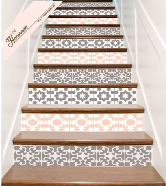 Vinyle escalier carrelage autocollants hacienda for Decoration espagnole maison