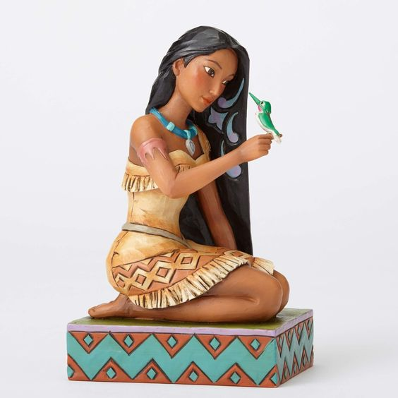 "Disney Jim Shore Traditions Pocahontas with Bird ""Free and Fierce"" New Box"