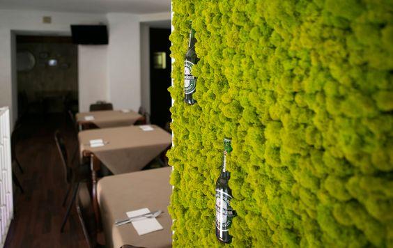 liquen pistachio Heineken - Restaurante I Love Valentina (Valencia) Por Conca&Marzal