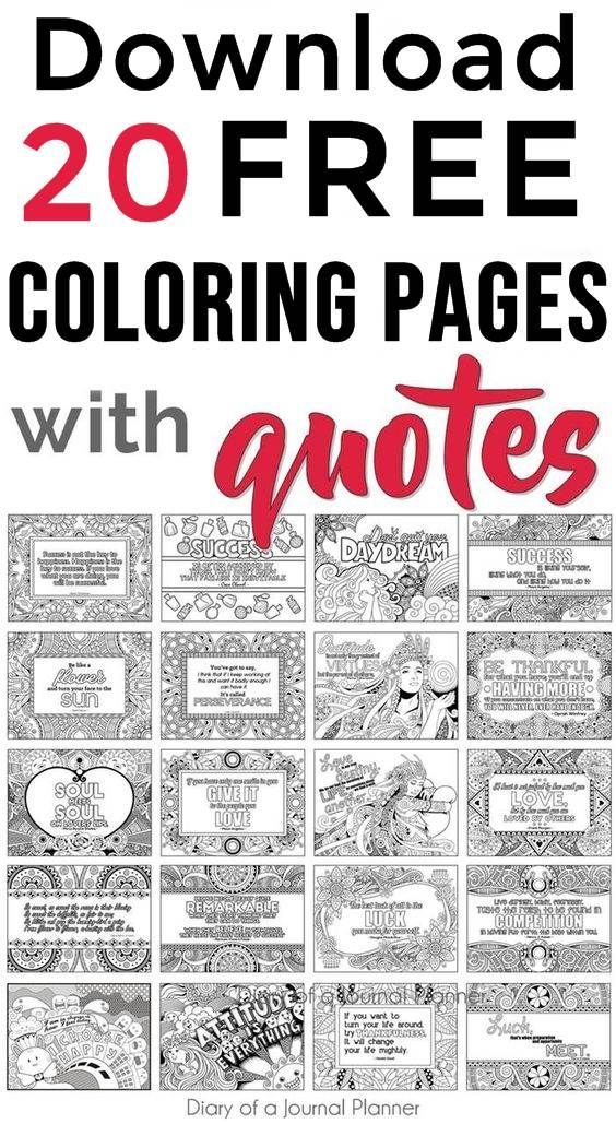 Printable Quote Coloring Pages (5 FREE Coloring Quotes!) Quote Coloring  Pages, Inspirational Quotes Coloring, Coloring Pages For Grown Ups
