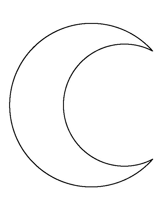 Crescent Moon pattern Use the printable outline for crafts - umbrella template