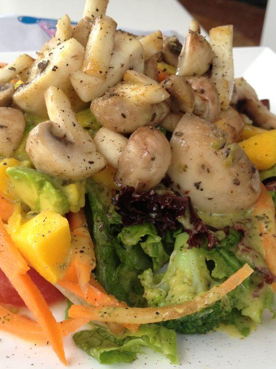 Fresh salad in Medellín, Colombia
