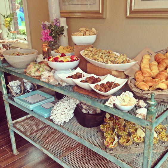 Wedding Reception Food Display: Beautiful Wedding Shower Food Display!