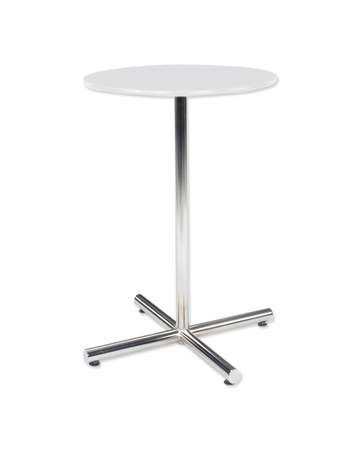 "Classic Party Rentals, 36"" Round Cafe Table White / Black or Chrome Base"