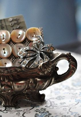 silver cup of goodies