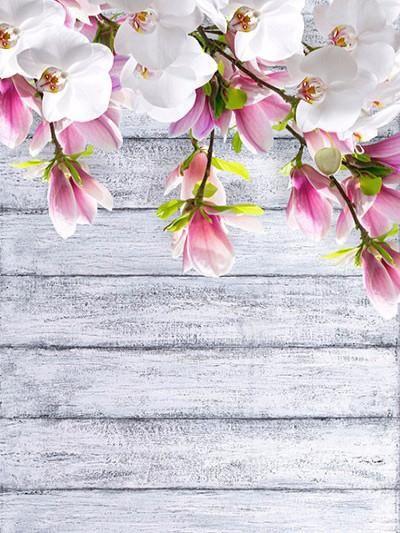 Kate Spring Scenery Flowers Wood Wall Photography Backdrops Flower Backgrounds Spring Scenery Photography Backdrops