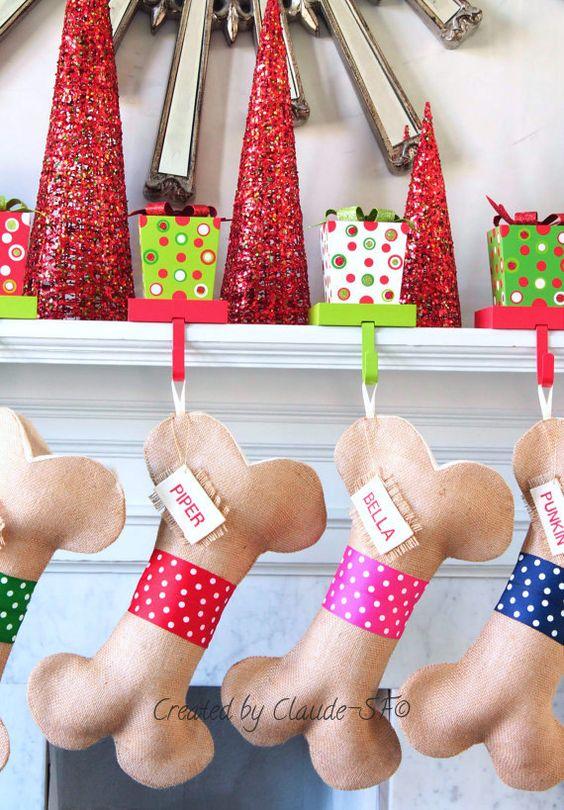 Polka Dog media de Navidad regalos de por ChristmasClaude en Etsy