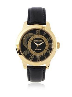 Lancaster Men's OLA0445NR-YG-NR Non Plus Ultra Black Textured Dial Leather Watch***