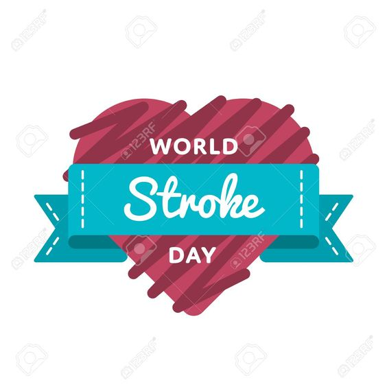 World Stroke Day Emblem Isolated Vector Illustration On White Background 29 October Global Healthcare Holi World Stroke Day Holidays And Events Greeting Cards