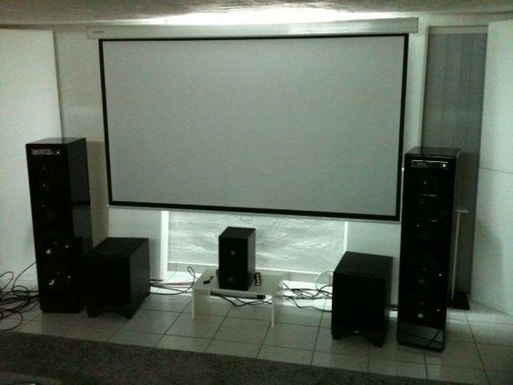Ein RESTEK GK2 als Center in einem Hifi-Kino