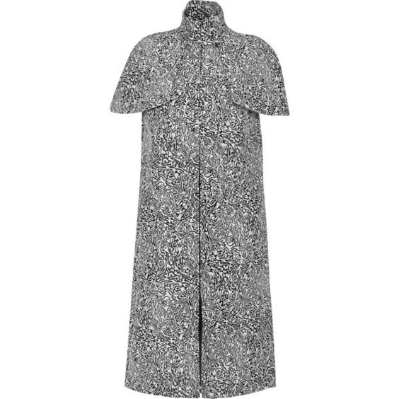 Opening Ceremony Jacquard coat (18.575 RUB) ❤ liked on Polyvore featuring outerwear, coats, white, opening ceremony coat, white cape coat, cape coat, jacquard coat and white capes