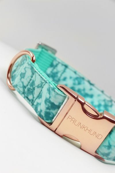 hundehalsband rose gold dog collar handmade - shop online on www.prunkhund.com