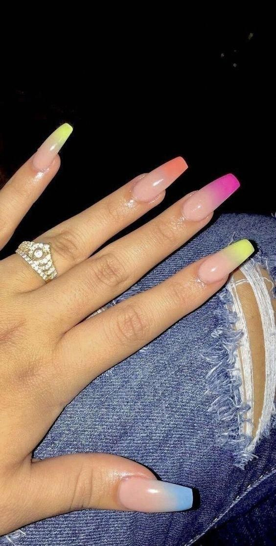30 Hottest Spring Color Nail Art Design Ideas That You Need To Try Monochrome Print Manicures Give Off A Subtl In 2020 With Images Cute Acrylic Nails Coffin Nails Designs Nails