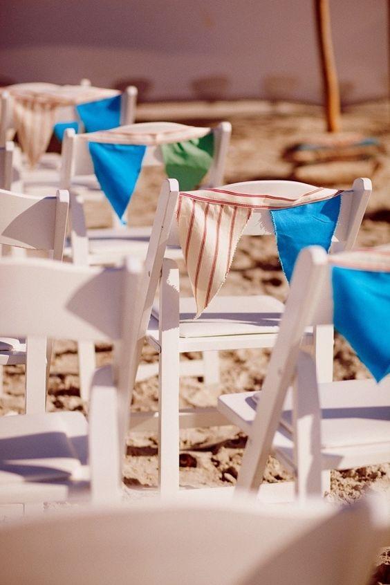 Chair Bunting   36 Utterly Charming Nautical DIYs